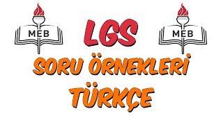 MEB LGS Örnek Soru Çözümleri - Türkçe