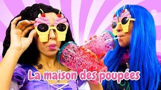 Les princesses et les emplâtres colorées pour enfants. Vidéo drôle en français.