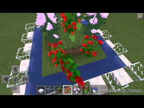 Como hacer jardines en minecraft pe endergirl93 youtube for Decoraciones de jardines