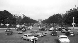 The Champs Elysees in Paris, giving a view Arc De Triumph in the background. HD Stock Footage