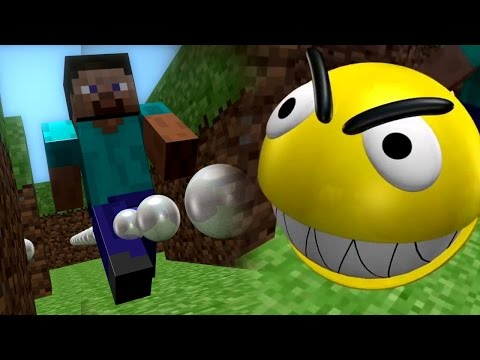 Minecraft vs pacman 3d game fight