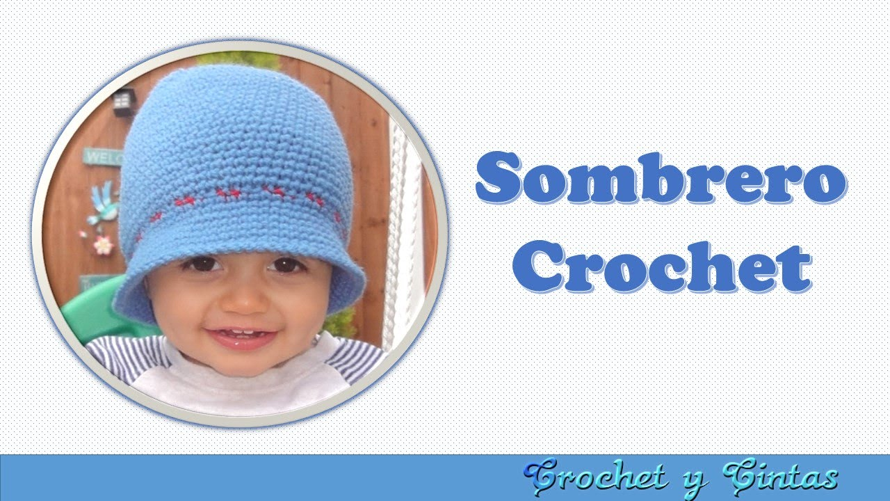 Sombrero – Gorro crochet (ganchillo) verano para niño - YouTube