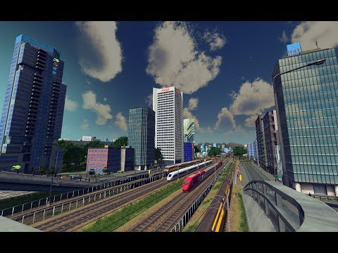 Cities Skylines: High Speed Train Rides [ICE 4] [NS DD-AR] (Train driver POV) |