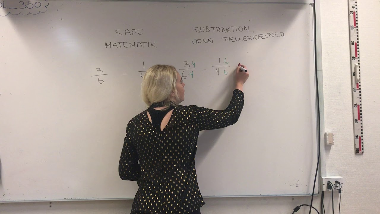 Subtraktion uden fællesnævner - SAPE Matematik