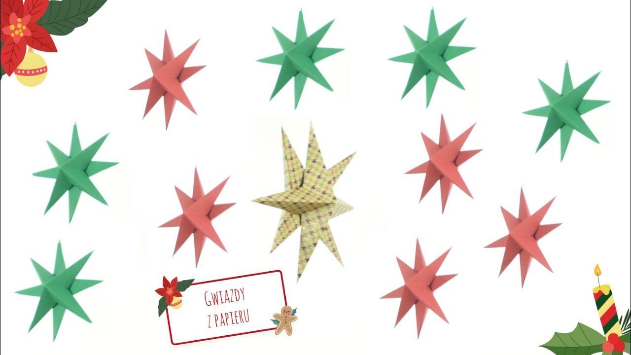 Jak zrobić trójwymiarową gwiazdę z papieru? #diy #święta