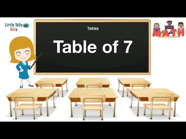 Table of 7 || Learn Multiplication ||7x1=7|| Preschool Maths || Learn Tables for kids ||Learn Maths