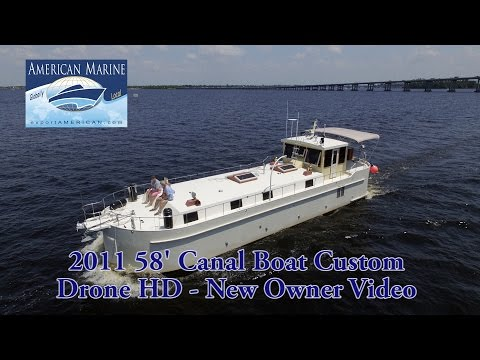 SOLD 2011 58' Canal Boat Custom - Drone HD by American Marine
