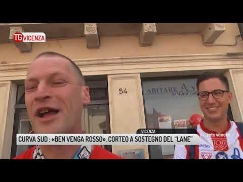 """TG VICENZA (19/05/2018) - CURVA SUD : «BEN VENGA ROSSO». CORTEO A SOSTEGNO DEL """"LANE"""""""