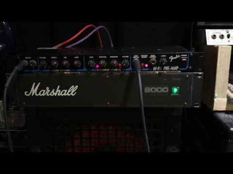 Fender M-80 Preamp with Marshall 9000 Series power amp Serviced & Ready