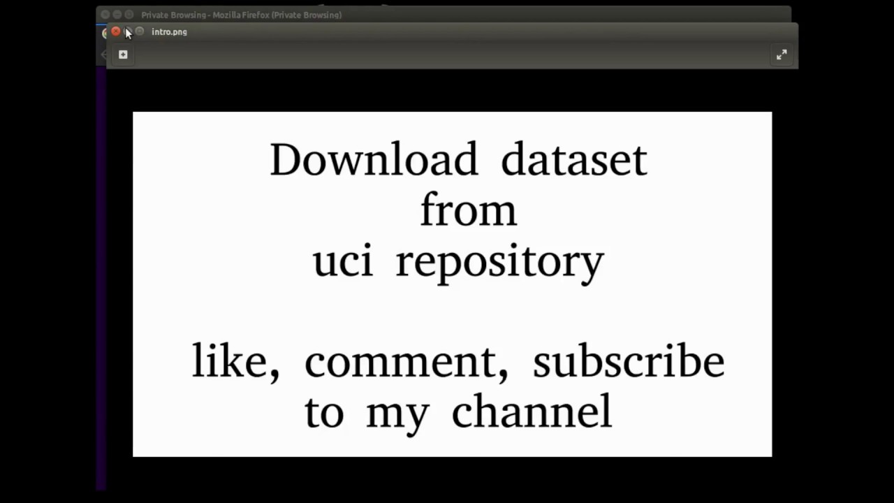 How to download Dataset from UCI Repository