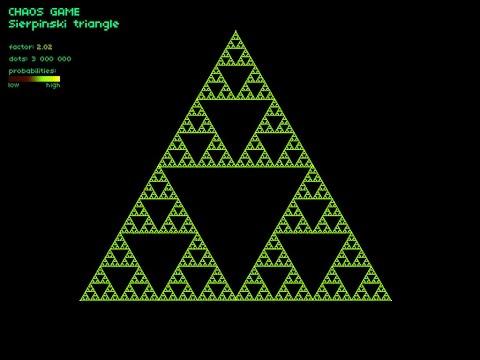 FRACTAL: Chaos Game - Sierpinski triangle in GameMaker