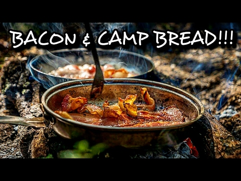 Camp Cooking Bacon and Cheese Gorditas
