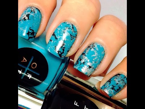 Turquoise nail art - Turquoise Nail Art - YouTube