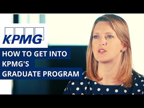 How to get into KPMG's graduate program