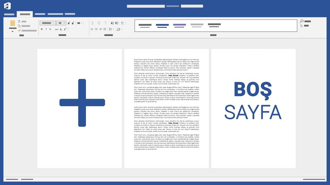 Yeni bir sayfa eklemek - Microsoft Word