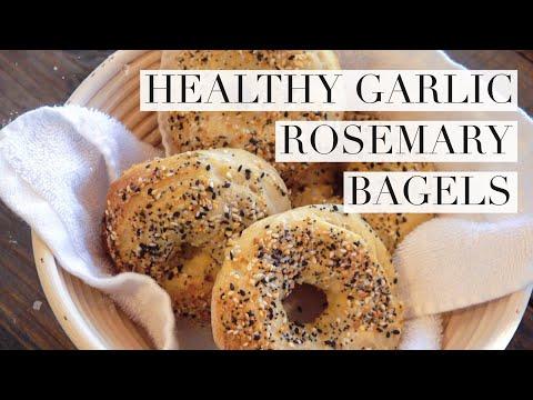 Healthy & Easy Garlic Rosemary Bagels [CC]