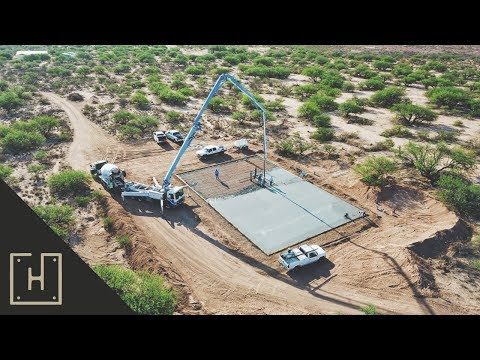 How To Build A DIY Off Grid Steel Garage – Form Work & Concrete Pour (part 3)