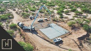 How To Build A DIY Off Grid Steel Garage - Form Work & Concrete Pour (part 3)