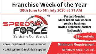 Multi Brand Two Wheeler Service Franchise | Speed Force Franchise India | Franchise Week of the Year