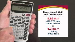 Construction Master Pro Trig Dimensional Math and Conversions How To