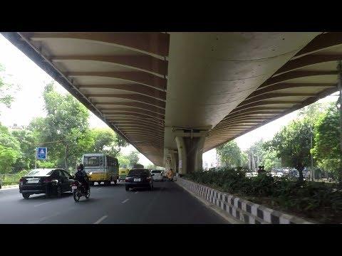 Drive from Rohini Sector 11 to Pitampura - Delhi, India