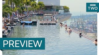 Science of an infinity pool - Amazing Hotels: Life Beyond the Lobby: Episode 1 Preview - BBC Two