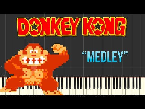Donkey Kong - Stage Start / Game Start / Level One / Hammer (Piano Tutorial Synthesia)