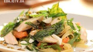 Как приготовить салат из курицы, базилика и пасты? Рецепт - Основной инстинкт, выпуск 16
