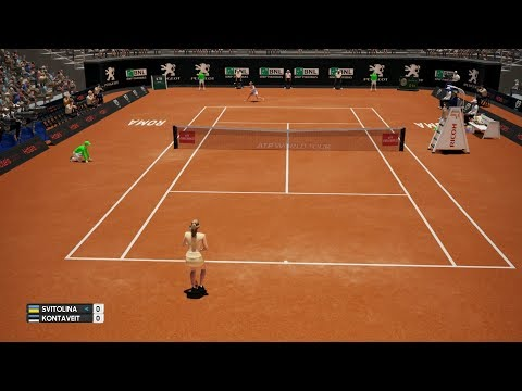 Rafael Nadal vs Novak Djokovic - AO International Tennis PS4 Gameplay