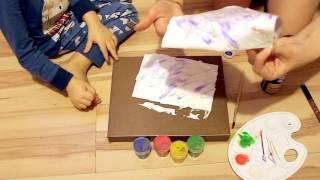СМОТРЕТЬ Картина пеной для бритья подарок Папе WATCH Painting with shaving cream gift for Dad