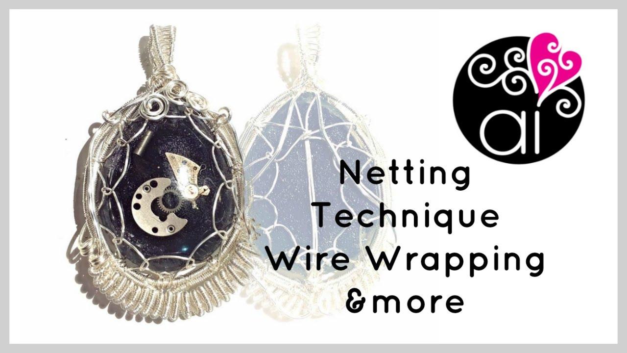 Tecnica Netting | Wire Wrapping Tutorial | Ciondolo Steampunk - YouTube