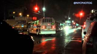 MTA Bus Runs Red Light On Ave Z E.16 St After Fatal Accident