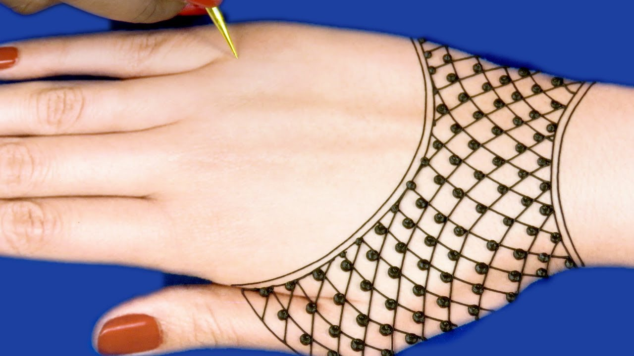 Mehndi Designs For Hands | Easy Mehndi Design For Back ...