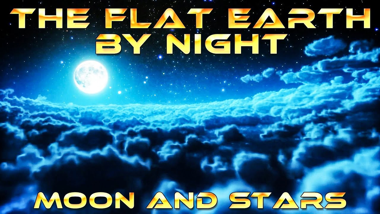 The FLAT EARTH by NIGHT - Moon and Stars (The Firmament) recorded on Camera at 65.000 feet ...