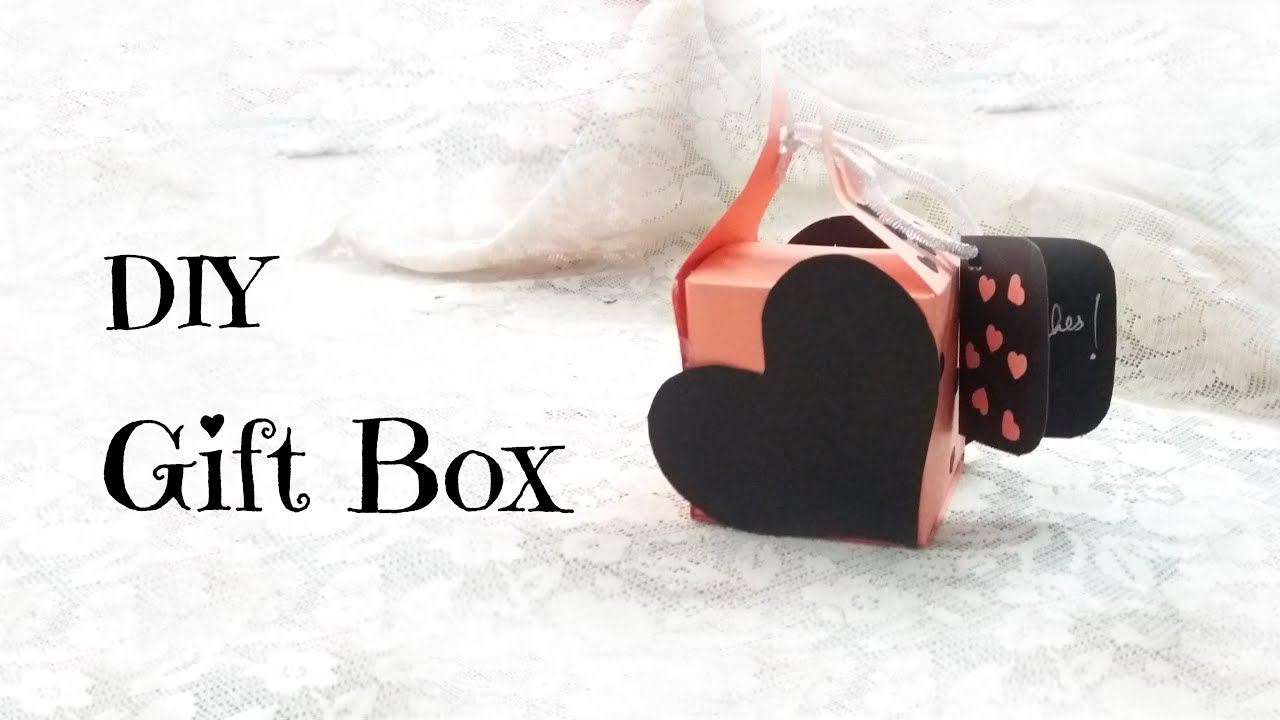 DIY Gift Box Card for Valentines day Valentines day ideas – Do It Yourself Valentines Day Cards