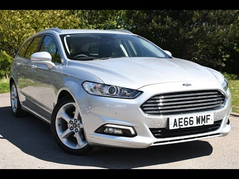 used ford mondeo 2 0 tdci titanium 5dr moondust silver 2016 estate youtube. Black Bedroom Furniture Sets. Home Design Ideas