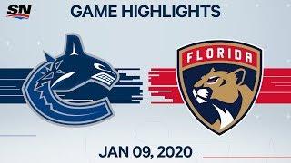 NHL Highlights   Canucks vs. Panthers – Jan. 9, 2020