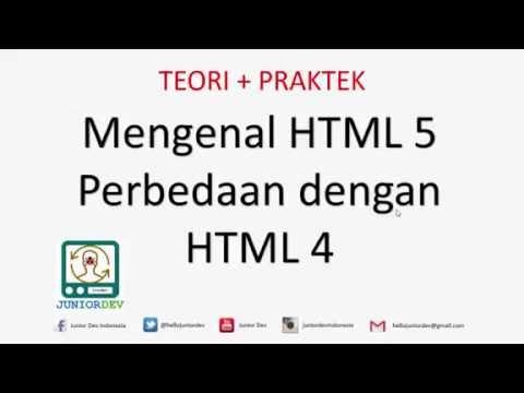 Perbedaan HTML5 Dengan HTML4 | Tutorial CSS (part 5)