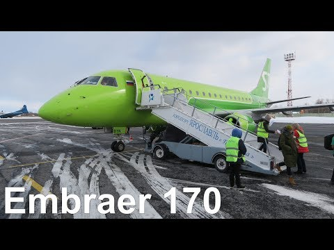 Перелет Пулково - Ярославль на Embraer 170 S7 Airlines