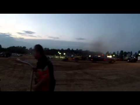 Andy Hill Rear Camera Heat race Winner at Jackson County Speedway 06/06/15