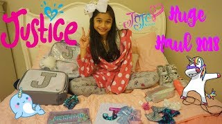 Justice Huge Haul 2018 Justice Unicorn backpack, Mermaids, JO JO Bows and More
