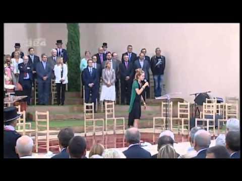 Alidé Sans - Aqueres montanhes (Acte institucional Parc de la Ciutadella 11 S 2013) on YouTube