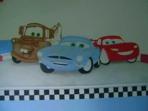 Pintura Em Quarto Infantil Carros2 Passo A Passo Youtube