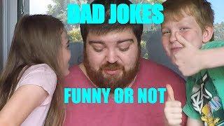Try Not To Laugh - Dad Jokes Part 1 - FrednFamKids