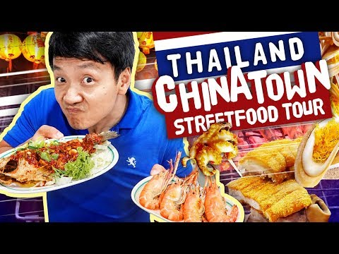 $1 NOODLES!  STREET FOOD Tour of CHINATOWN Yaowarat in Bangkok Thailand