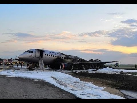 Breaking News : Aeroflot Ssj100 Crash At Moscow Airport