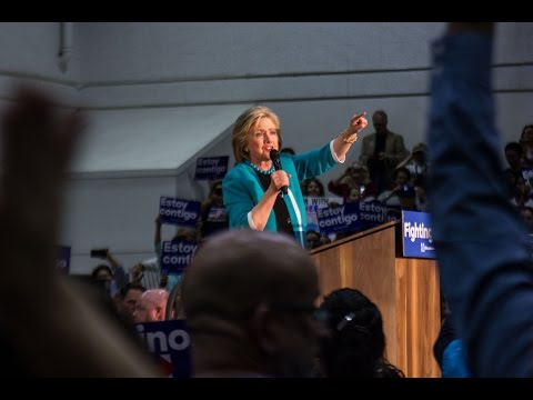 Hillary Clinton Rally and Protest at East Los Angeles College