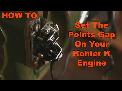 How to adjust and set Points Gap on Kohler K Engine