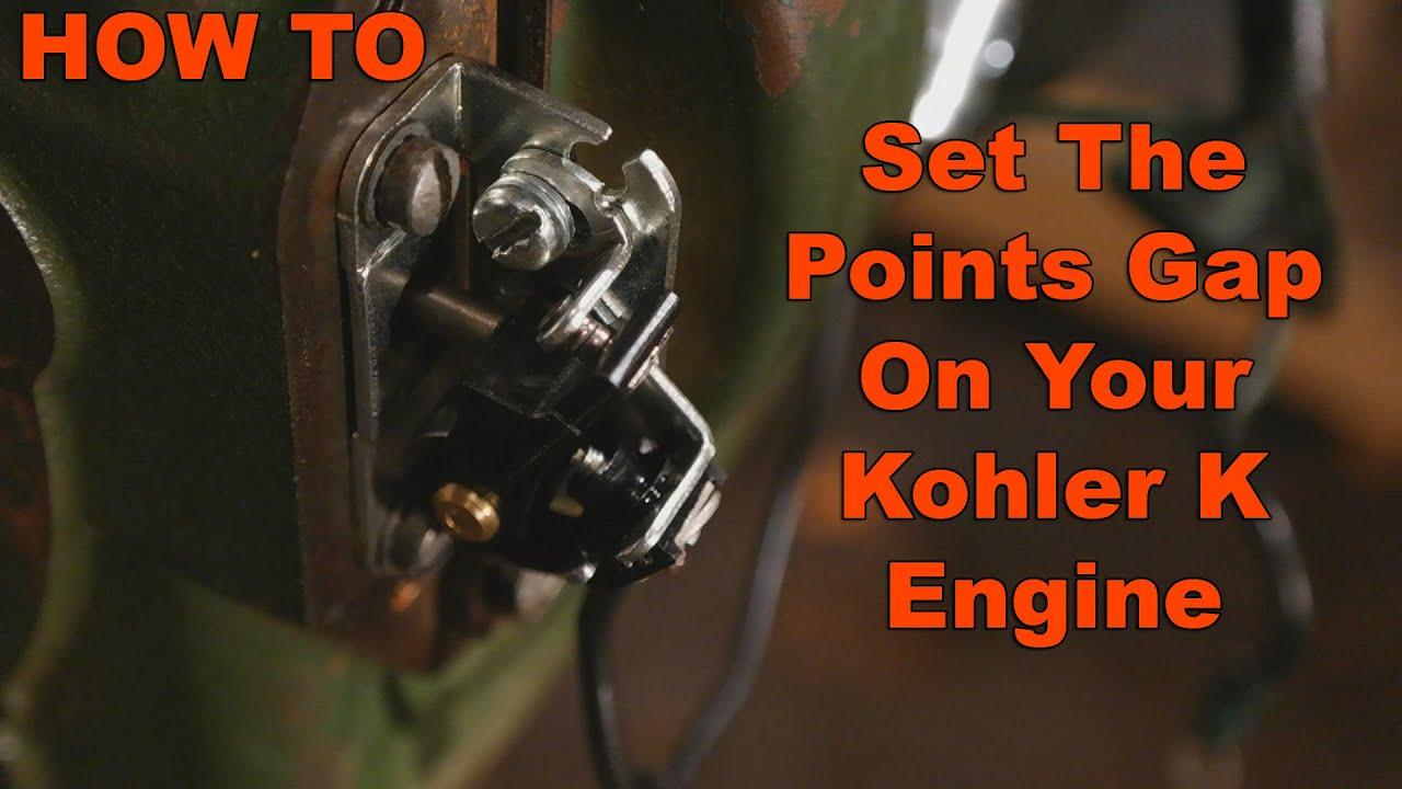 How to adjust and set Points Gap on Kohler K Engine  YouTube