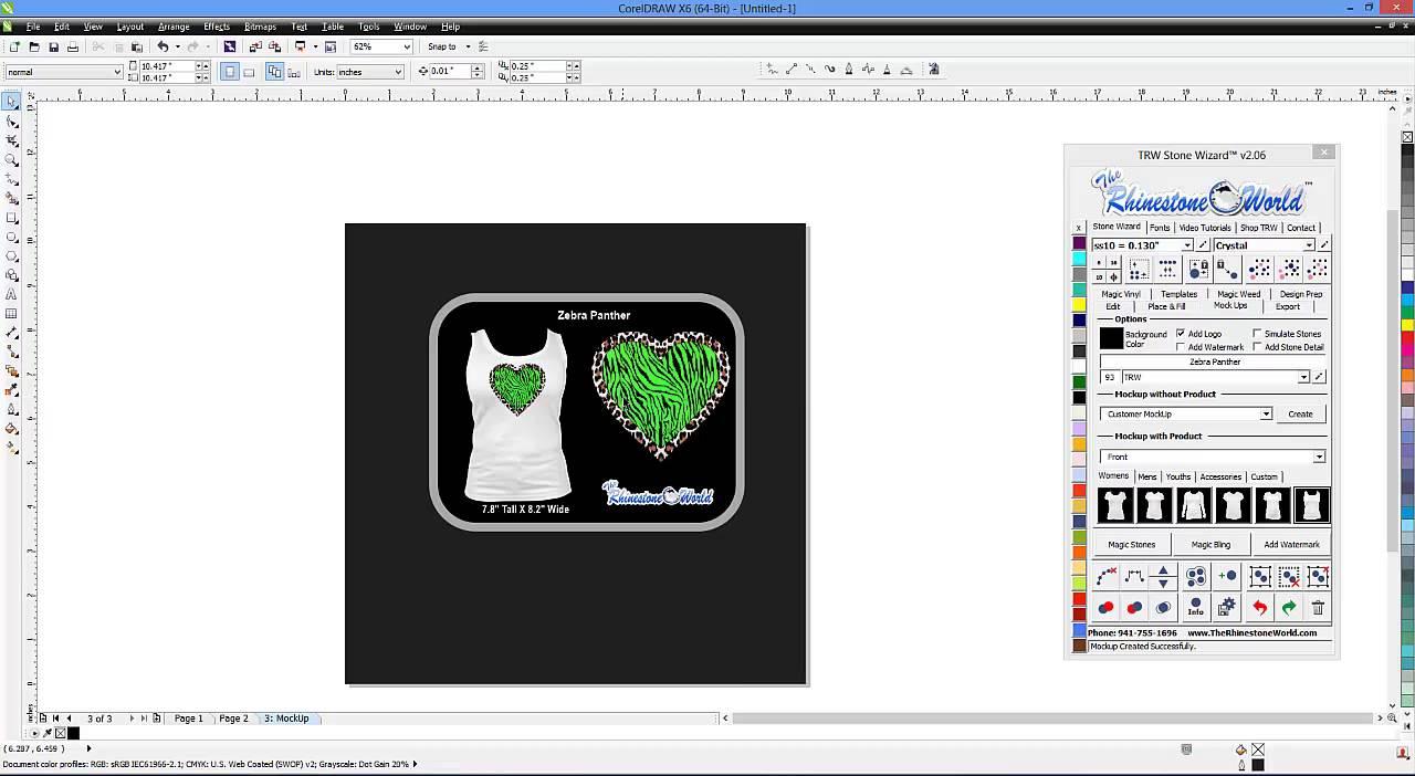 Zebra shirt design - Making A Zebra Camo Pattern Shirt Design With The Trw Stone Wizard And Coreldraw